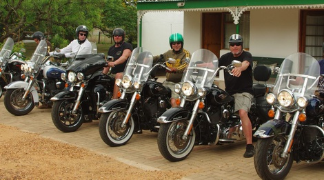 German Tourists on Harleys