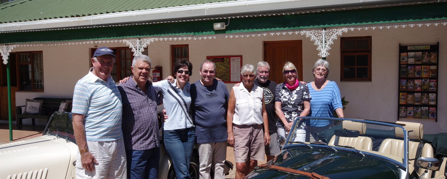 Morgan Club Members Cape Town visiting Fynbos Guesthouse Riversdale